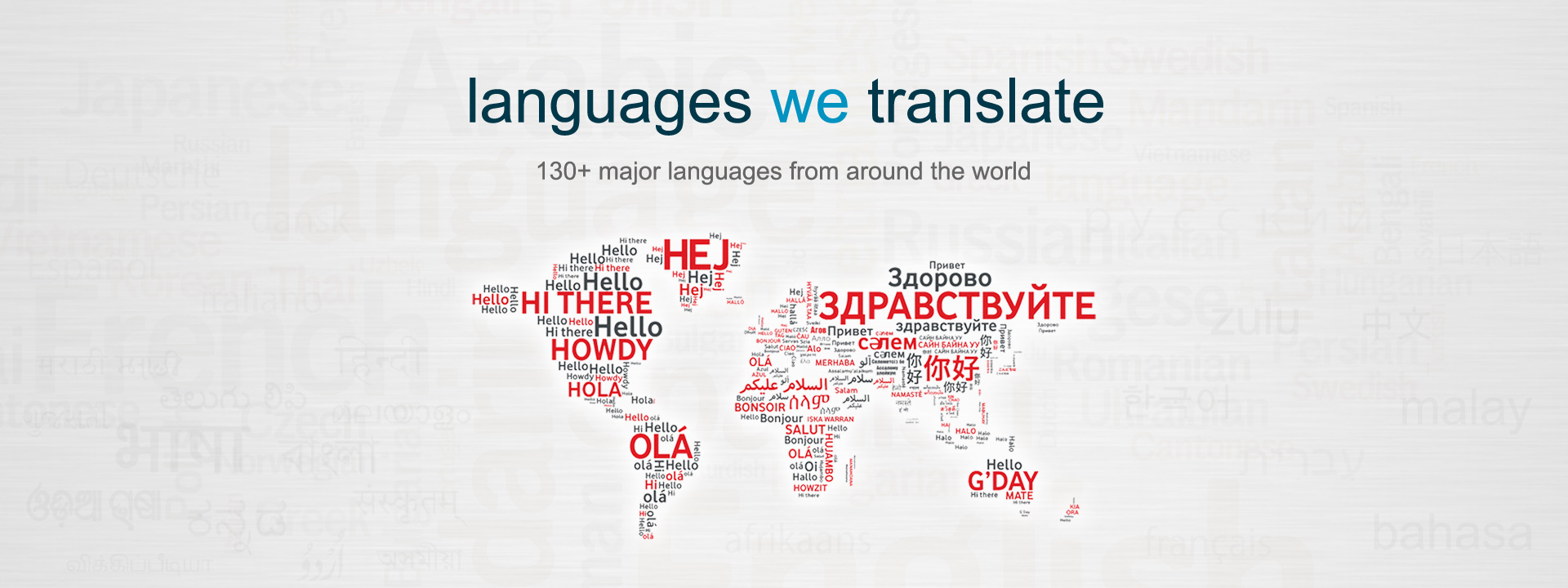 Languages We Translate
