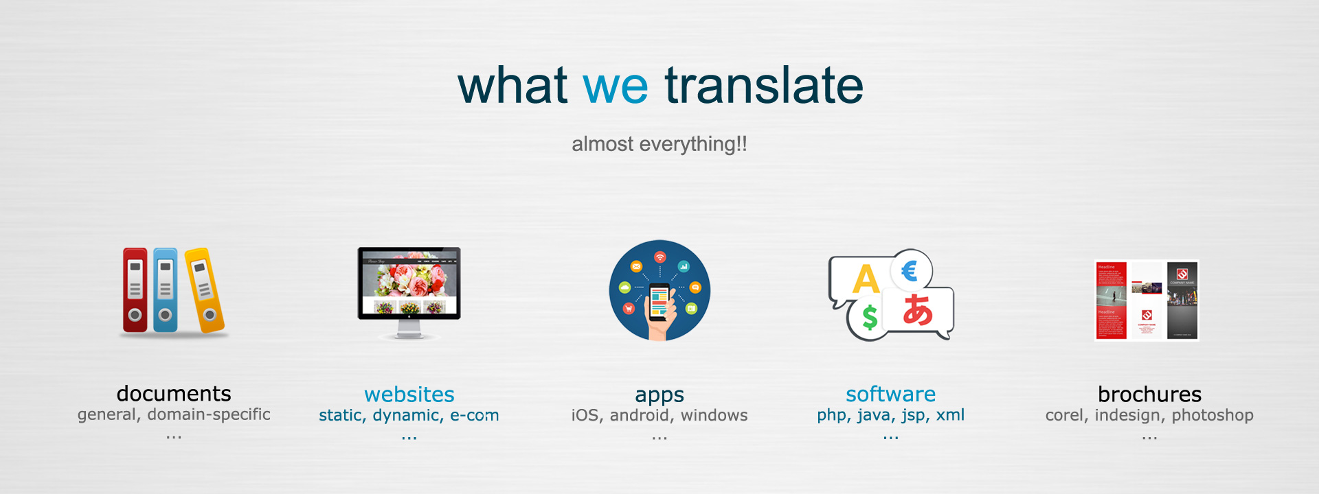 What We Translate