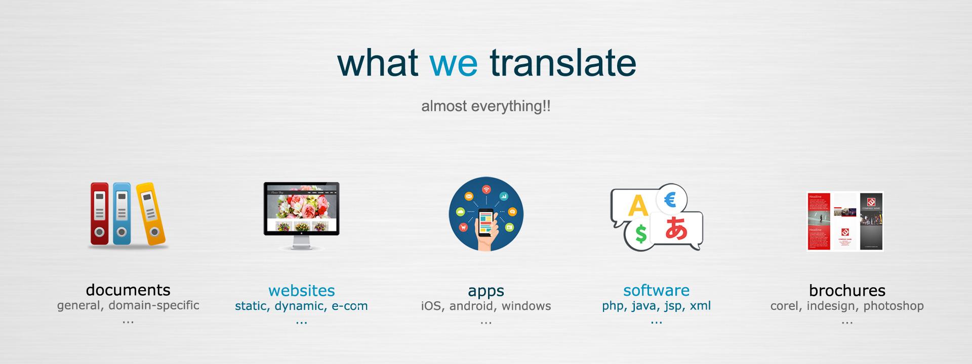 What We Translate